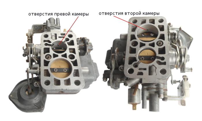 Drosselnye zaslonki poplavkovyh kamer karbjuratora VAZ 2107 - Устройство карбюратора ваз 2107 дааз 2107 1107010
