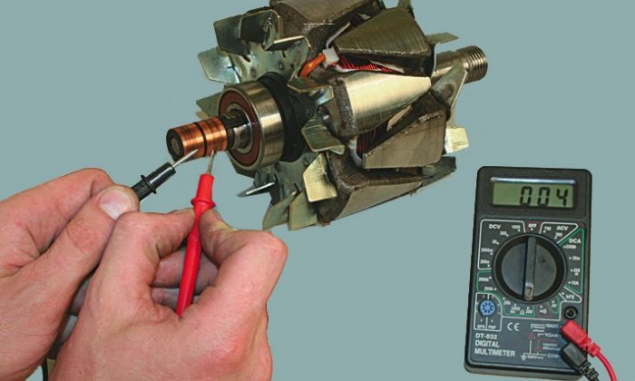 Проверка генератора специальным тестером