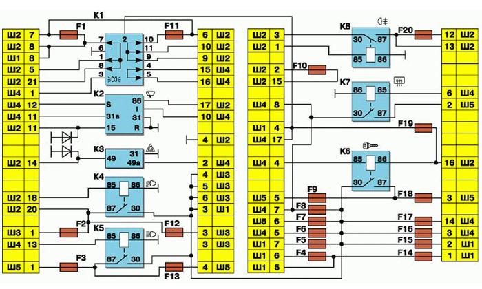 Схема проводки ваз 2110 инжектор 16 клапанов
