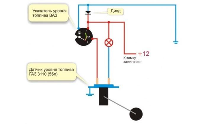 datchik s rezervom - Схема датчика уровня топлива ваз 2109 карбюратор