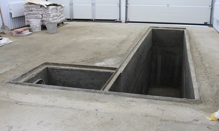 Смотровая яма для установки